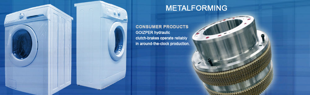 Metalforming - Consumer Products - Goizper hydraulic clutch-brakes operate reliably in around-the-clock production