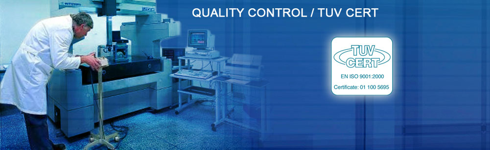 Quality control and TUV Cert
