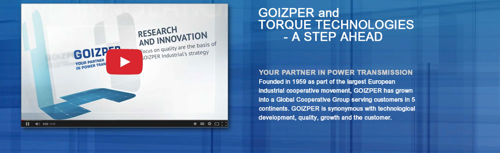 A STEP AHEAD - GOIZPER and TORQUE TECHNOLOGIES - YOUR PARTNER IN POWER TRANSMISSION.